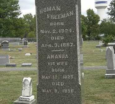 FREEMAN, BOMAN - Lorain County, Ohio | BOMAN FREEMAN - Ohio Gravestone Photos