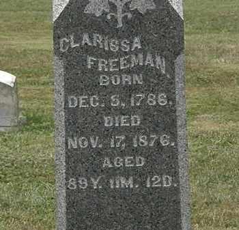 FREEMAN, CLARISSA A. - Lorain County, Ohio | CLARISSA A. FREEMAN - Ohio Gravestone Photos