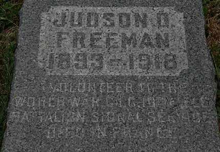 FREEMAN, JUDSON D. - Lorain County, Ohio | JUDSON D. FREEMAN - Ohio Gravestone Photos