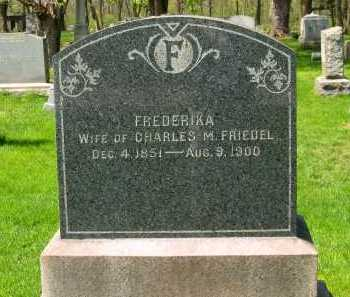 FRIEDEL, FREDERIKA - Lorain County, Ohio | FREDERIKA FRIEDEL - Ohio Gravestone Photos
