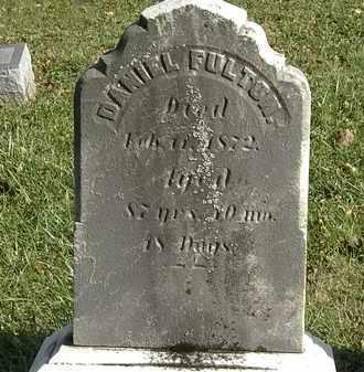 FULTON, DANIEL - Lorain County, Ohio   DANIEL FULTON - Ohio Gravestone Photos