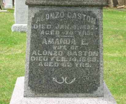 GASTON, ALONZO - Lorain County, Ohio | ALONZO GASTON - Ohio Gravestone Photos
