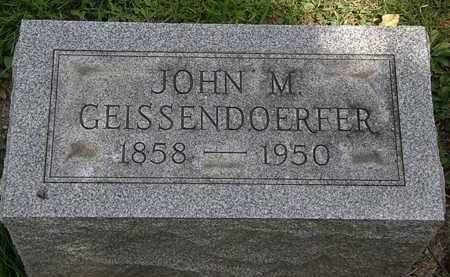 GEISSENDOERFER, JOHN M. - Lorain County, Ohio | JOHN M. GEISSENDOERFER - Ohio Gravestone Photos