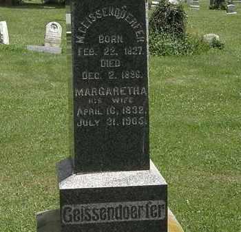 GEISSENDORFER, M. - Lorain County, Ohio | M. GEISSENDORFER - Ohio Gravestone Photos