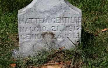 GENTILLE, MATTEO - Lorain County, Ohio   MATTEO GENTILLE - Ohio Gravestone Photos