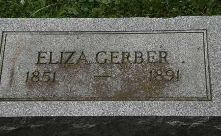 GERBER, ELIZA - Lorain County, Ohio | ELIZA GERBER - Ohio Gravestone Photos