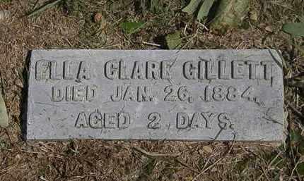 GILLETT, ELLA CLARE - Lorain County, Ohio   ELLA CLARE GILLETT - Ohio Gravestone Photos