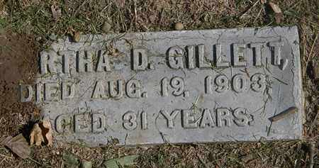 GILLETT, MARTHA D. - Lorain County, Ohio   MARTHA D. GILLETT - Ohio Gravestone Photos