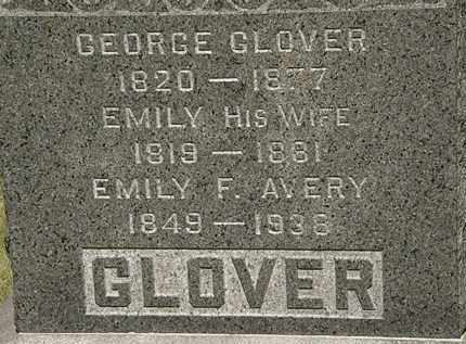 GLOVER, EMILY - Lorain County, Ohio   EMILY GLOVER - Ohio Gravestone Photos