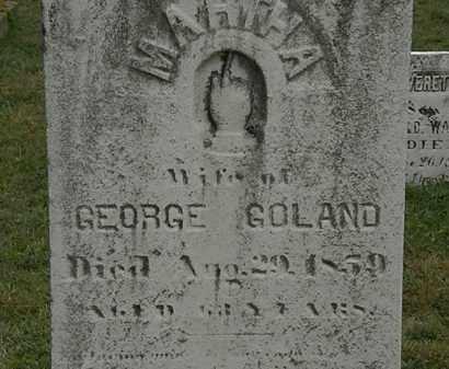 GOLAND, MARTHA - Lorain County, Ohio | MARTHA GOLAND - Ohio Gravestone Photos