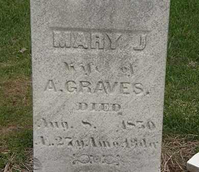 GRAVES, MARY J. - Lorain County, Ohio | MARY J. GRAVES - Ohio Gravestone Photos