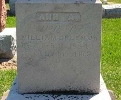 GREEN, ANN A. - Lorain County, Ohio | ANN A. GREEN - Ohio Gravestone Photos