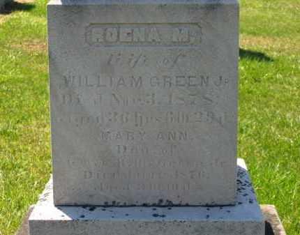 GREEN, MARY ANN - Lorain County, Ohio   MARY ANN GREEN - Ohio Gravestone Photos