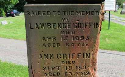 GRIFFIN, ANN - Lorain County, Ohio | ANN GRIFFIN - Ohio Gravestone Photos