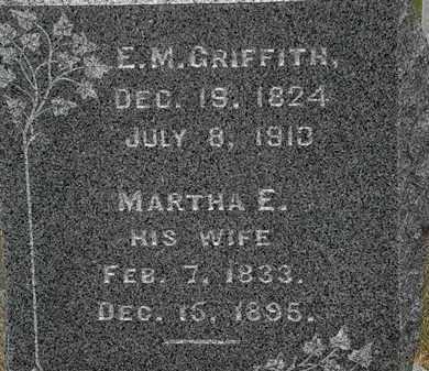 GRIFFITH, MARTHA E. - Lorain County, Ohio | MARTHA E. GRIFFITH - Ohio Gravestone Photos
