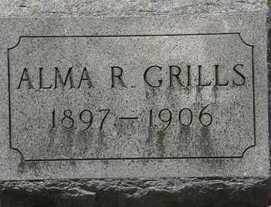 GRILLS, ALMA R. - Lorain County, Ohio   ALMA R. GRILLS - Ohio Gravestone Photos
