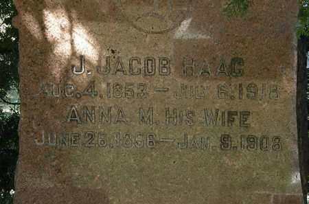 HAAG, J. JACOB - Lorain County, Ohio | J. JACOB HAAG - Ohio Gravestone Photos