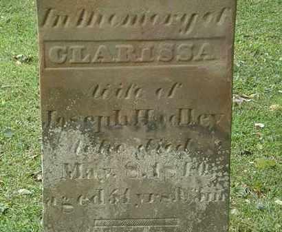 HADLEY, CLARISSA - Lorain County, Ohio | CLARISSA HADLEY - Ohio Gravestone Photos