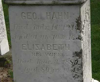 HAHN, ELIZABETH - Lorain County, Ohio | ELIZABETH HAHN - Ohio Gravestone Photos