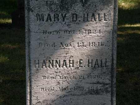 HALL, MARY D. - Lorain County, Ohio   MARY D. HALL - Ohio Gravestone Photos