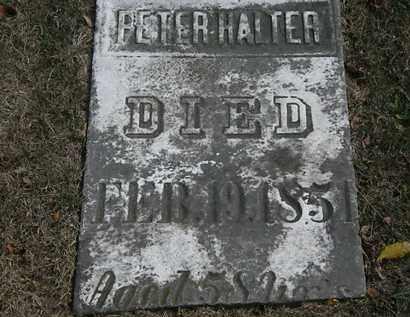 HALTER, PETER - Lorain County, Ohio   PETER HALTER - Ohio Gravestone Photos