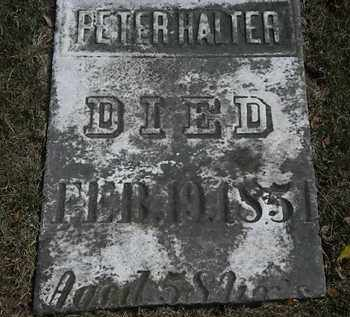 HALTER, PETER - Lorain County, Ohio | PETER HALTER - Ohio Gravestone Photos