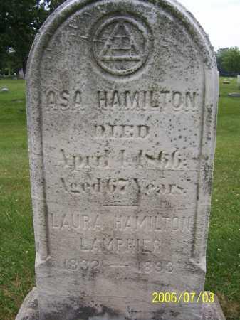 HAMILTON, ASA - Lorain County, Ohio | ASA HAMILTON - Ohio Gravestone Photos