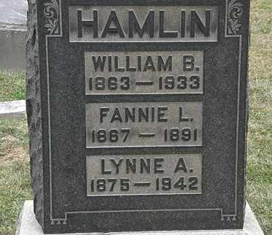 HAMLIN, FANNIE L. - Lorain County, Ohio | FANNIE L. HAMLIN - Ohio Gravestone Photos