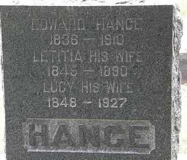 HANCE, LETITIA - Lorain County, Ohio | LETITIA HANCE - Ohio Gravestone Photos