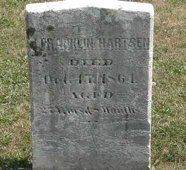 HARTSEN, J. FRANKLIN - Lorain County, Ohio | J. FRANKLIN HARTSEN - Ohio Gravestone Photos