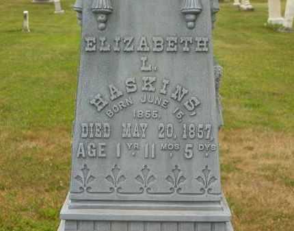 HASKINS, ELIZABETH L. - Lorain County, Ohio   ELIZABETH L. HASKINS - Ohio Gravestone Photos
