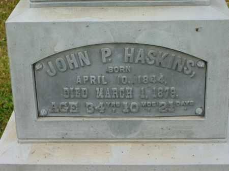 HASKINS, JOHN P. - Lorain County, Ohio   JOHN P. HASKINS - Ohio Gravestone Photos