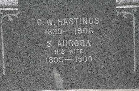 HASTINGS, C.W. - Lorain County, Ohio | C.W. HASTINGS - Ohio Gravestone Photos