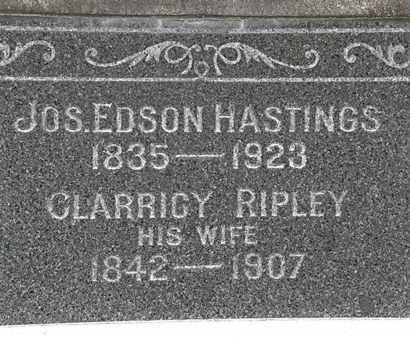 RIPLEY HASTINGS, CLARICCY - Lorain County, Ohio   CLARICCY RIPLEY HASTINGS - Ohio Gravestone Photos