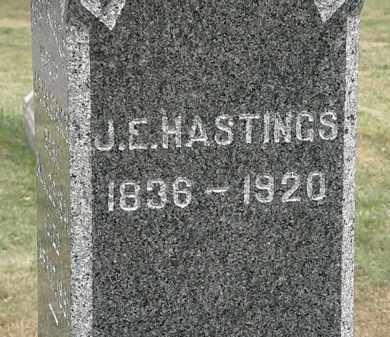 HASTINGS, J.E. - Lorain County, Ohio | J.E. HASTINGS - Ohio Gravestone Photos