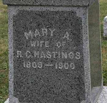 HASTINGS, MARY A. - Lorain County, Ohio | MARY A. HASTINGS - Ohio Gravestone Photos