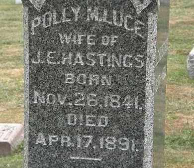 HASTINGS, POLLY M. - Lorain County, Ohio | POLLY M. HASTINGS - Ohio Gravestone Photos