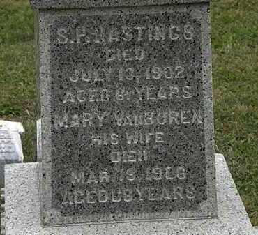 HASTINGS, S.P. - Lorain County, Ohio | S.P. HASTINGS - Ohio Gravestone Photos