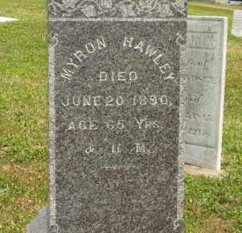 HAWLEY, MYRON - Lorain County, Ohio | MYRON HAWLEY - Ohio Gravestone Photos