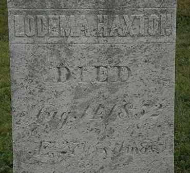 HAXTON, LODEMA - Lorain County, Ohio | LODEMA HAXTON - Ohio Gravestone Photos