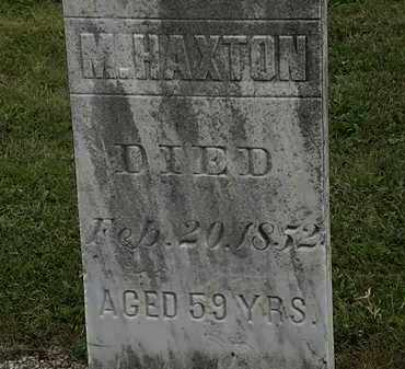HAXTON, M. - Lorain County, Ohio   M. HAXTON - Ohio Gravestone Photos