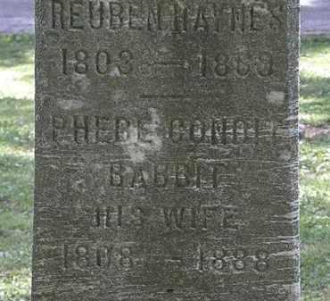 BABBIT HAYNES, PHEBE CONDIT - Lorain County, Ohio | PHEBE CONDIT BABBIT HAYNES - Ohio Gravestone Photos