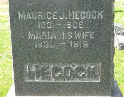 HECOCK, MAURICE J. - Lorain County, Ohio | MAURICE J. HECOCK - Ohio Gravestone Photos