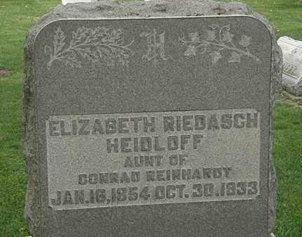 HEIDLOFF, ELIZABETH - Lorain County, Ohio | ELIZABETH HEIDLOFF - Ohio Gravestone Photos