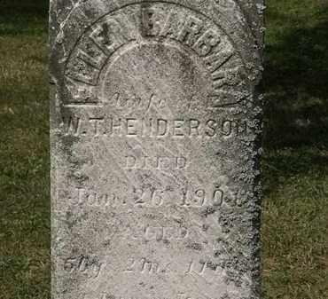 HENDERSON, ELLEN BARBARA - Lorain County, Ohio | ELLEN BARBARA HENDERSON - Ohio Gravestone Photos