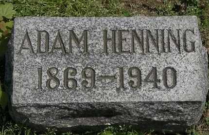 HENNING, ADAM - Lorain County, Ohio | ADAM HENNING - Ohio Gravestone Photos