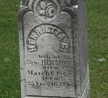 HERSHEY, HENRIETTA C. - Lorain County, Ohio | HENRIETTA C. HERSHEY - Ohio Gravestone Photos