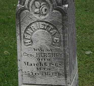 HERSHEY, HENRIETTA - Lorain County, Ohio   HENRIETTA HERSHEY - Ohio Gravestone Photos