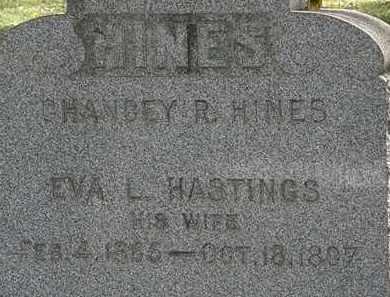 HINES, EVA L. - Lorain County, Ohio | EVA L. HINES - Ohio Gravestone Photos