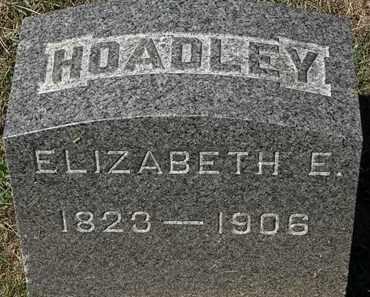 HOADLEY, ELIZABETH E. - Lorain County, Ohio | ELIZABETH E. HOADLEY - Ohio Gravestone Photos